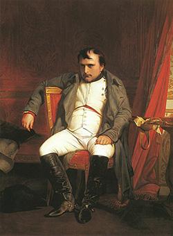 Dipinto di Delaroche dal titolo Napoleone a Fontainebleau del 1840