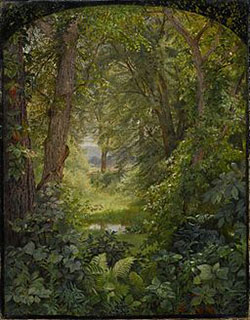 Dipinto di William Trost Richards dal titolo Woodland Landscape